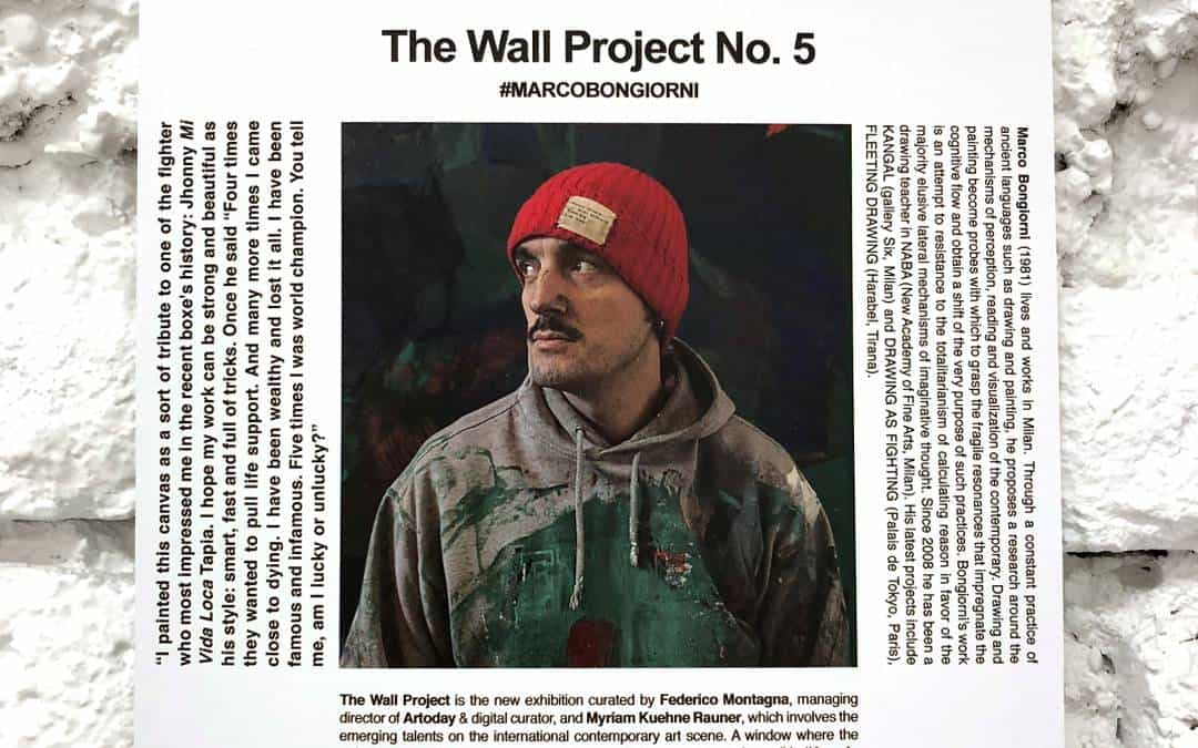 """""""THE WALL"""" Project N.5 – With the Italian artist Marco Bongiorni"""