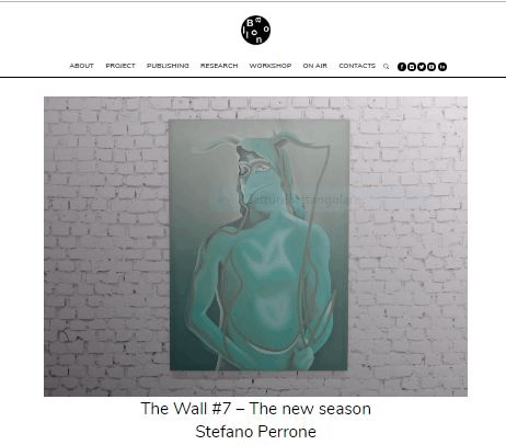 """""""THE WALL"""" Project N.7 – NEW SEASON – With the Italian artist Marco Stefano Perrone"""