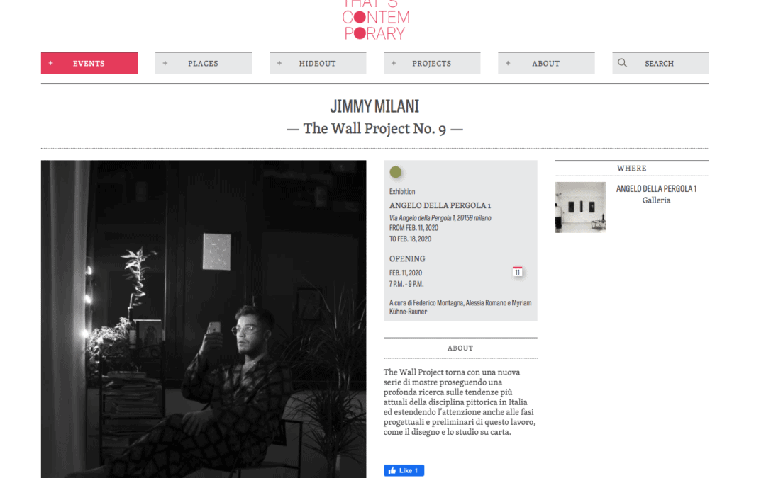 """""""THE WALL"""" Project N.9 – Jimmy Milani"""
