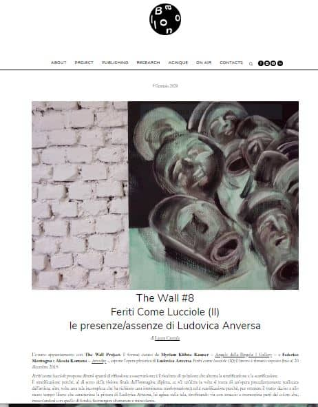 """""""THE WALL"""" Project N.8 – Ludovica Anversa"""